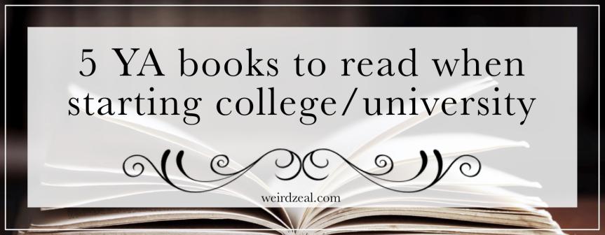 5 YA books to read when starting college/university
