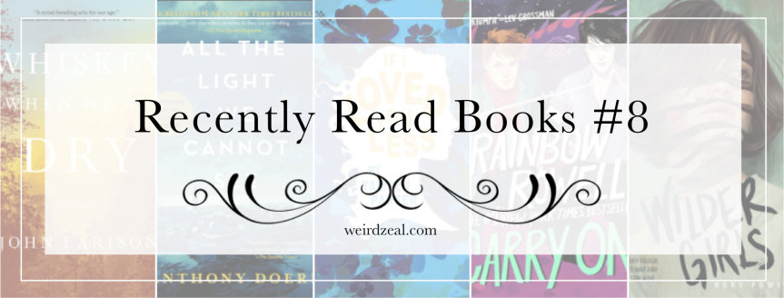 Recently Read Books #8 | new genres + a couple ofdisappointments