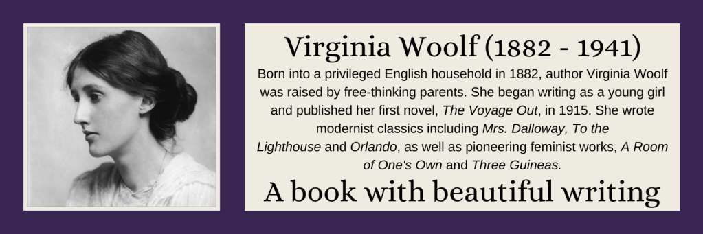 Virginia Woolf - A book with beautiful writing