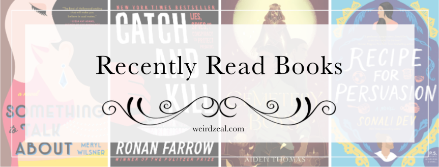 Recently Read Books | Hollywood, romances, and ghosts